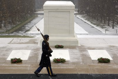 Tomb of Unknown Soldier in winter